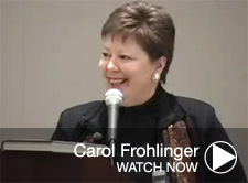 Carol Frohlinger speaks
